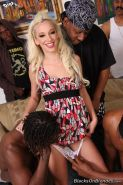 Blonde Jada Stevens on huge black cocks in actions