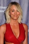 Kaley Cuoco showing huge cleavage and sexy abs