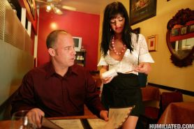 Sadie West gets a rough treatment as a waitress