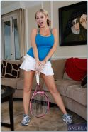 Athletic porn star Katie Kox fucking her tennis coach after practice