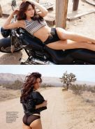 Kelly Brook topless on a bike for August isssue of Maxim magazine