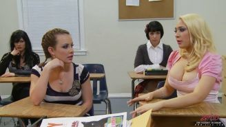 Student Kagney Linn Karter fucks the school nerd