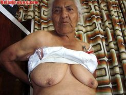 Granny in chair shows her pussy and big tits #67245526