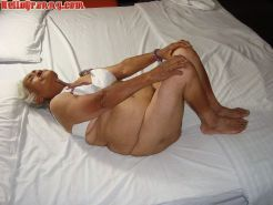 Granny in chair shows her pussy and big tits #67245533