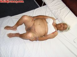 Granny in chair shows her pussy and big tits #67245539