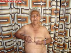 Granny in chair shows her pussy and big tits #67245567