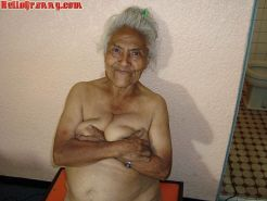 Granny in chair shows her pussy and big tits #67245601