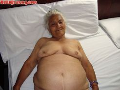 Granny in chair shows her pussy and big tits #67245618