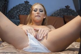 Carter does some breath play with The Squirt machine and she cums so hard, she c