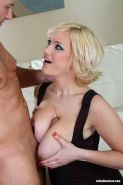 Short haired blond Siri gets her huge tits and pussy fucked