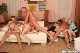 Group orgy hardcore sex with horny and tasty pornstar babes