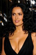 Salma Hayek showing her sexy body and extremely huge tits