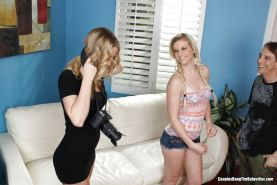 Babysitter banged by a couple