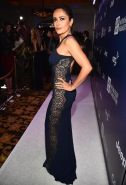 Salma Hayek shows off her curvy body wearing a tight dress for the 4th Annual Se