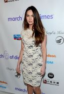 Megan Fox wearing white transparent mini dress at 7th annual March of Dimes cele