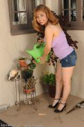 Exotic 47 year old Marissa from AllOver30 doing a little naked gardening|Marissa