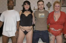 fat busty matures in interracial foursome