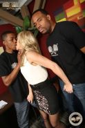 Blonde Simone Sonay in interracial anal mmf action