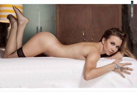 Michelle Vieth fully naked for H Para Hombres Magazine December 2013 issue