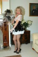 Maid Sue in stockings