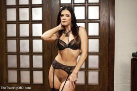 India Summer bdsm stockings babe in sex discipline training with maledom and sla