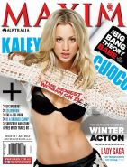 Beautiful Kaley Cuoco showing off her amazing curves wearing some lingerie and s