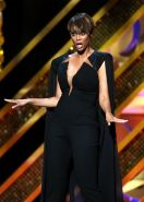 Tyra Banks busty wearing various sexy outfits at the 42nd Annual Daytime Emmy Aw