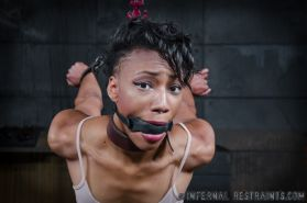 Nikki Darling is bound in chains and made to orgasm by maledom J