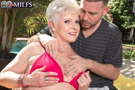 Busty Granny Jewel Fucking Cock Twice Her Age