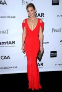 Kate Hudson shows cleavage wearing a sexy red dress amfAR Inspiration Gala in Ho