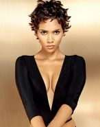 Halle Berry showing tits and nipple slip and upskirt paparazzi pictures