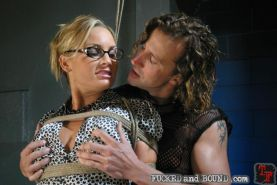 Pain whore Flower Tucci gets bound and rough hfucked by Tony De Sergio