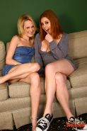 Cherry Poppens gets creampied front of Erin Moore