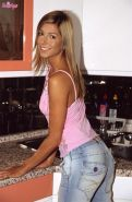 Brigitte Hunter pulls off thong in the kitchen and plays