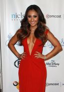 Francia Raisa shows huge cleavage wearing sexy red dress at 27th Annual Imagen A