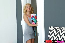 Sexy teen Marsha May fucked with milf in threesome
