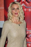 Britney Spears leggy wearing a mini dress at the X-Factor auditions in San Franc