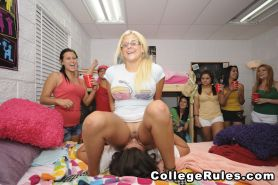 Naughty college girls were drunk and having girl to girl sex