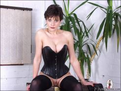 Leather corset dominant milf mistress lady sonia
