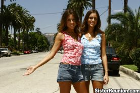 Twin teen sisters sharing a dick in hollywood