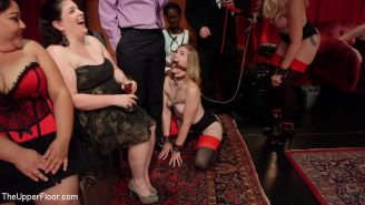 Senior slaves Simone Sonay and Ella Nova are pitted against one another in a com