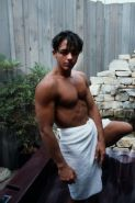 Muscle and twink fucking and cumming in jacuzzi at the backyard