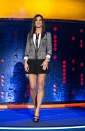 Sandra Bullock leggy wearing a black shorts on 'The Jonathan Ross Show' in Londo