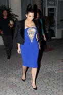 Kim Kardashian showing huge cleavage on a night out in Miami Beach