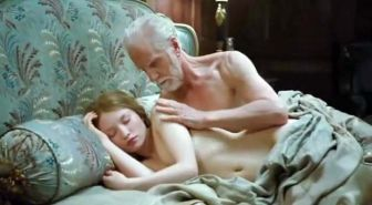 Emily Browning exposing nude body and get fucking very hard by the old man
