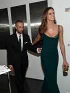 Izabel Goulart showing huge cleavage at the 11th BrazilFoundation NYC Gala in NY