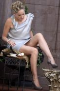 Sharon Stone flashing her panties on the 'Gods Behaving Badly' set in NYC