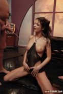 Kinky pissing orgy with a brunette babe swallowing all the pee