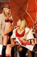 Brianna Love and Samantha Ryan hot in stockings