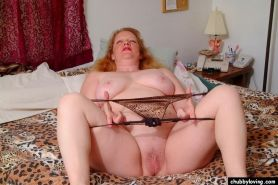Fat mature redhead getting nasty and spreading her big pussy #71732367